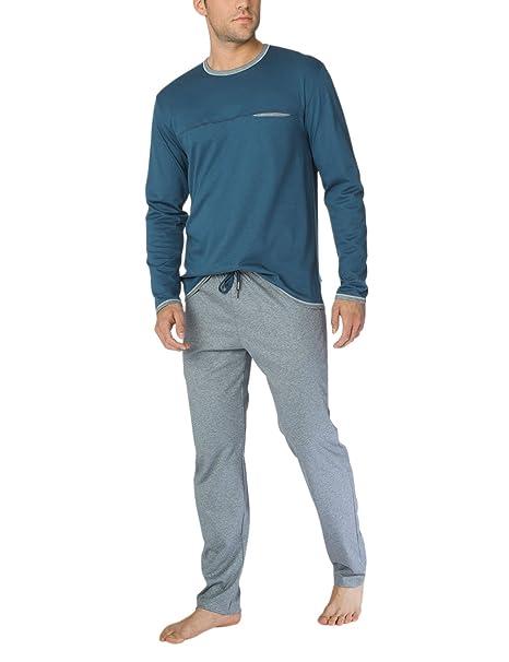 Calida Steve Herren Pyjama, Conjuntos de Pijama para Hombre, (Dark Denim 366)