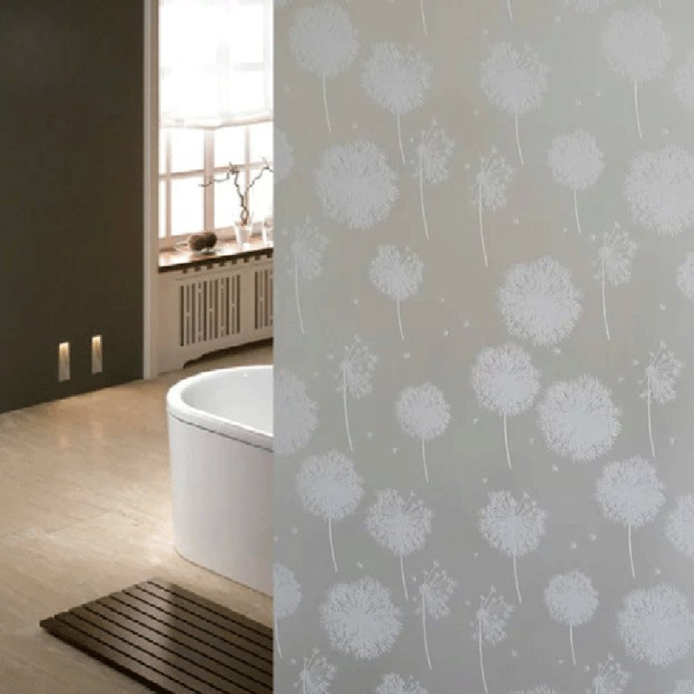 OMG_Shop Self Adhesive Decorative Privacy Window Film for Home Office Window Glass Dandelion Flower -45x100cm
