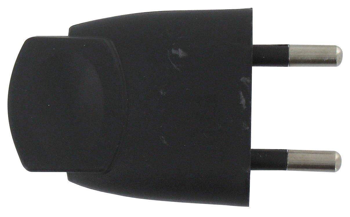 Fiche plastique 2P-6 A Dhome - Mâ le - Noir