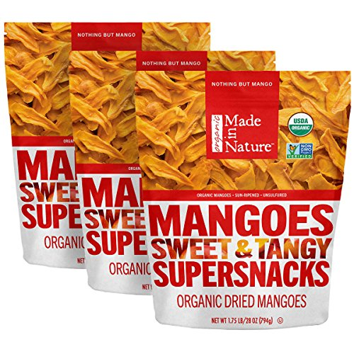 Made in Nature Organic Super Snacks, Dried Mango, 28 Ounce by Made In Nature (Image #1)