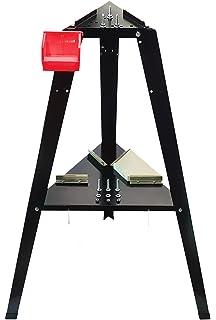 Holds 9 Cues WALNUT MAVERICK 9 CUE ROUND Free-Standing Billiard Cue Floor Rack