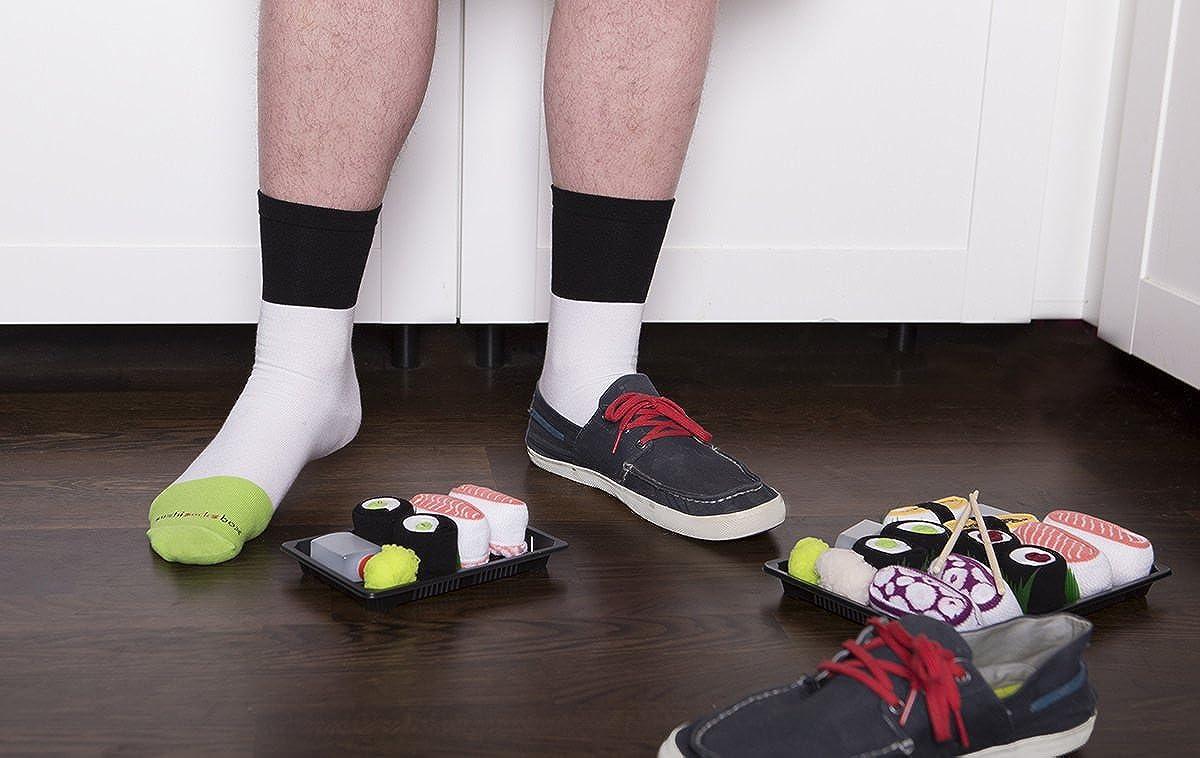 Sushi Socks Box - 1 par de CALCETINES: Maki de Pepino - REGALO DIVERTIDO, Algodón de alta Calidad|Tamaños 41-46, Certificado de OEKO-TEX, Fabricado en EU: ...