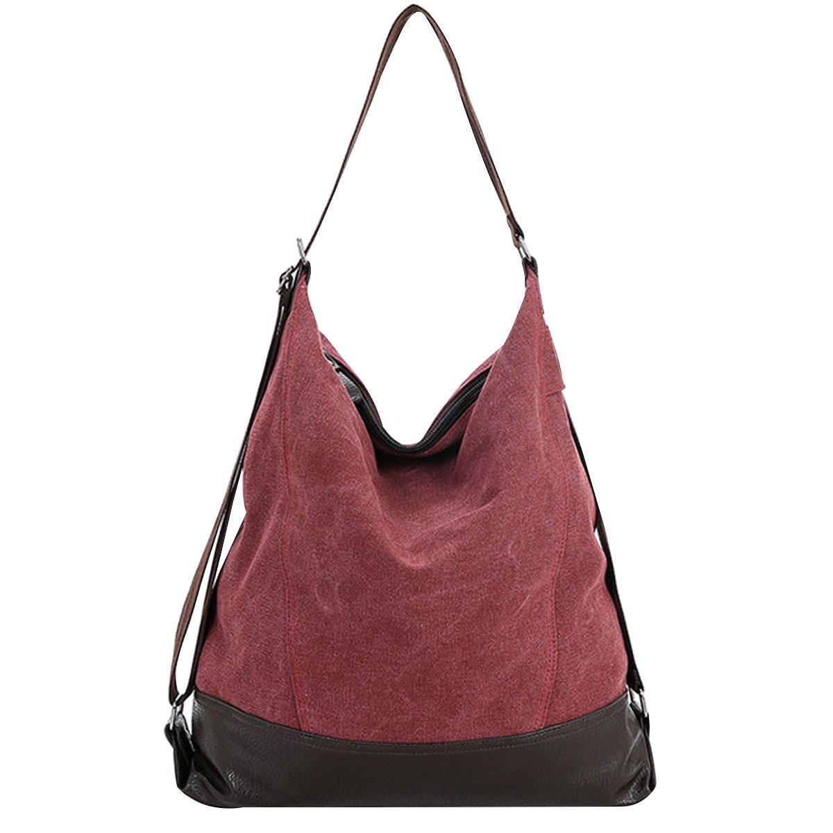 Goodbag Boutique Women Waterproof Nylon Tote Handbag Girl Versatile Satchel Purse Messenger Shoulder Bag Red by Goodbag Boutique