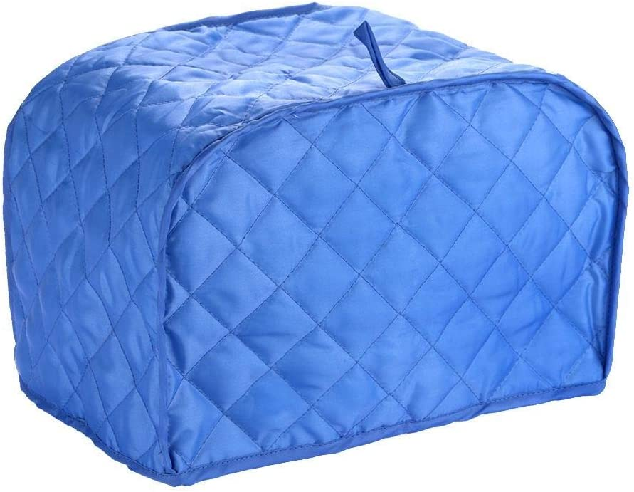 Hoocozi Polyester Quilted 4 Slice Toaster Appliance Cover, Dust and Fingerprint Protection, Machine Washable - Blue