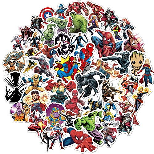 Superhero Avengers Stickers for Teens,Marvel Legends Stickers with Party Favors for Kids,Graffiti Waterproof Decals for Hydro flasks Water Bottles Bikes Luggage Skateboard Bumper(104pcs Random) (Minecraft Stickers)