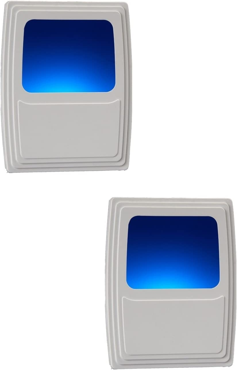 Westek Plug-In Forever-Glo LED Night Light - Includes 2 Blue Night Lights - Always-On Glow, Energy Efficient - White Finish - Ideal for Dark Rooms and Spaces at Home
