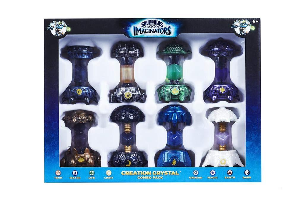 Skylanders Imaginators 8 Creation Crystal Combo Pack Dark, Light, Magic, Tech, Undead, Earth, Water, and Life
