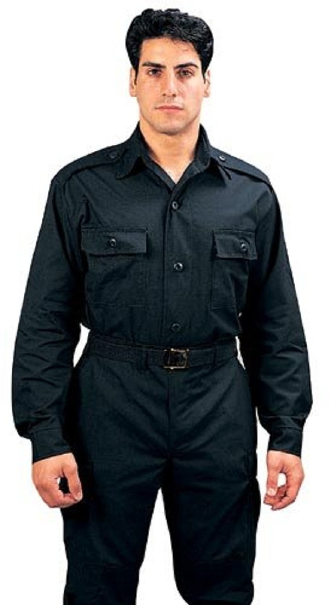Rothco Black Long Sleeve Tactical Shirt - Large rco-6723_Black_LRG
