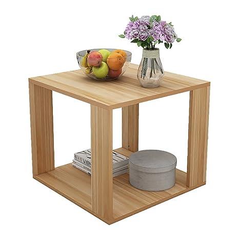 D&L Legno massello Impermeabile Tavolino da salotto, Quadrata Divano ...