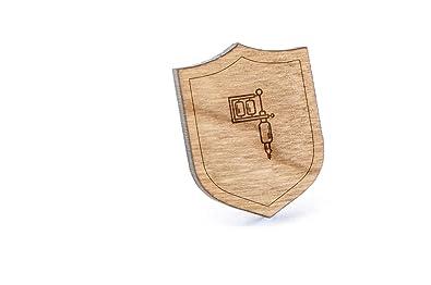 Tatuaje máquina - Pin, Pin de madera y corbata Tack | rústico y ...