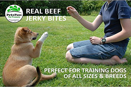 Beef Jerky Dog Treats - Natural Made in the USA - Pet Training Treat by PetzPaw Pet Products (Image #4)