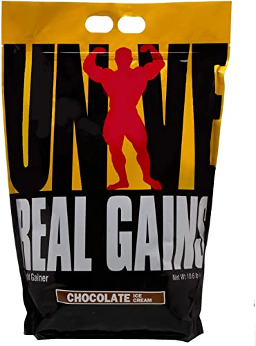 Real Gains Weight Gainer with Complex Carbs and Whey-Micellar Casein Protein Matrix Chocolate 10.6