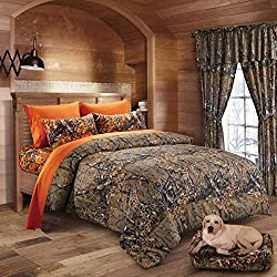 20 Lakes Woodland Hunter Camo Comforter, Sheet, & Pillowcase Set (Full, Forest)