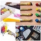 Ameauty Artist Paint Brush Set, 15 Pieces Different