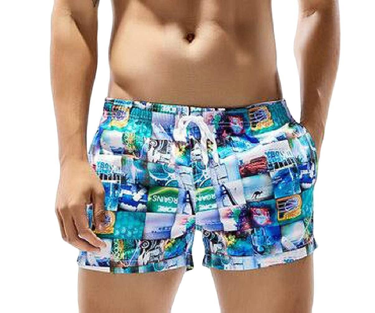 Xswsy XG Mens Camouflage Printed Beach Shorts Swim Trunks Swimming Watershort