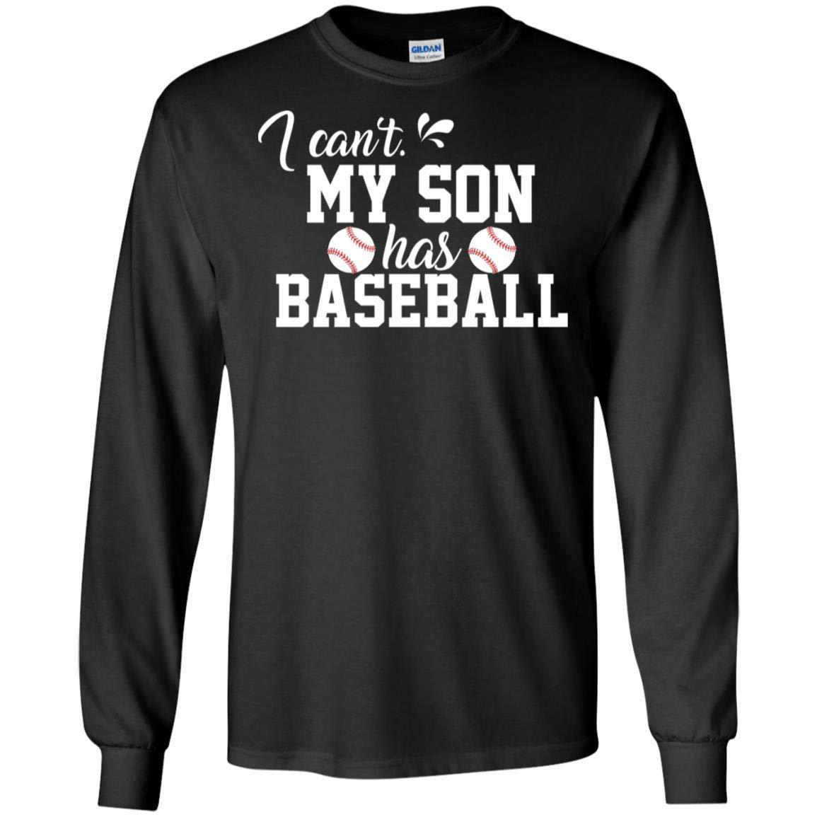 TeeAbelia I Cant My Son Has Baseball Parents Baseball Shirt