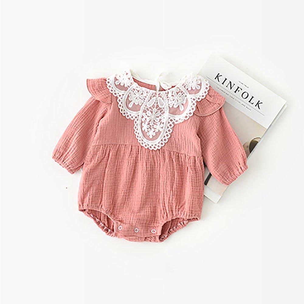 Bebé niña 0 - 1-2 años Pelele de encaje dulce bebé Onesies ...
