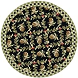 Safavieh Chelsea Collection HK164A Hand-Hooked Black and Ivory Premium Wool Round Area Rug (8′ Diameter) Review