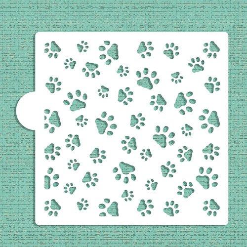 Mini Dog Paws Allover Cookie and Craft Stencil CM007 by Designer Stencils