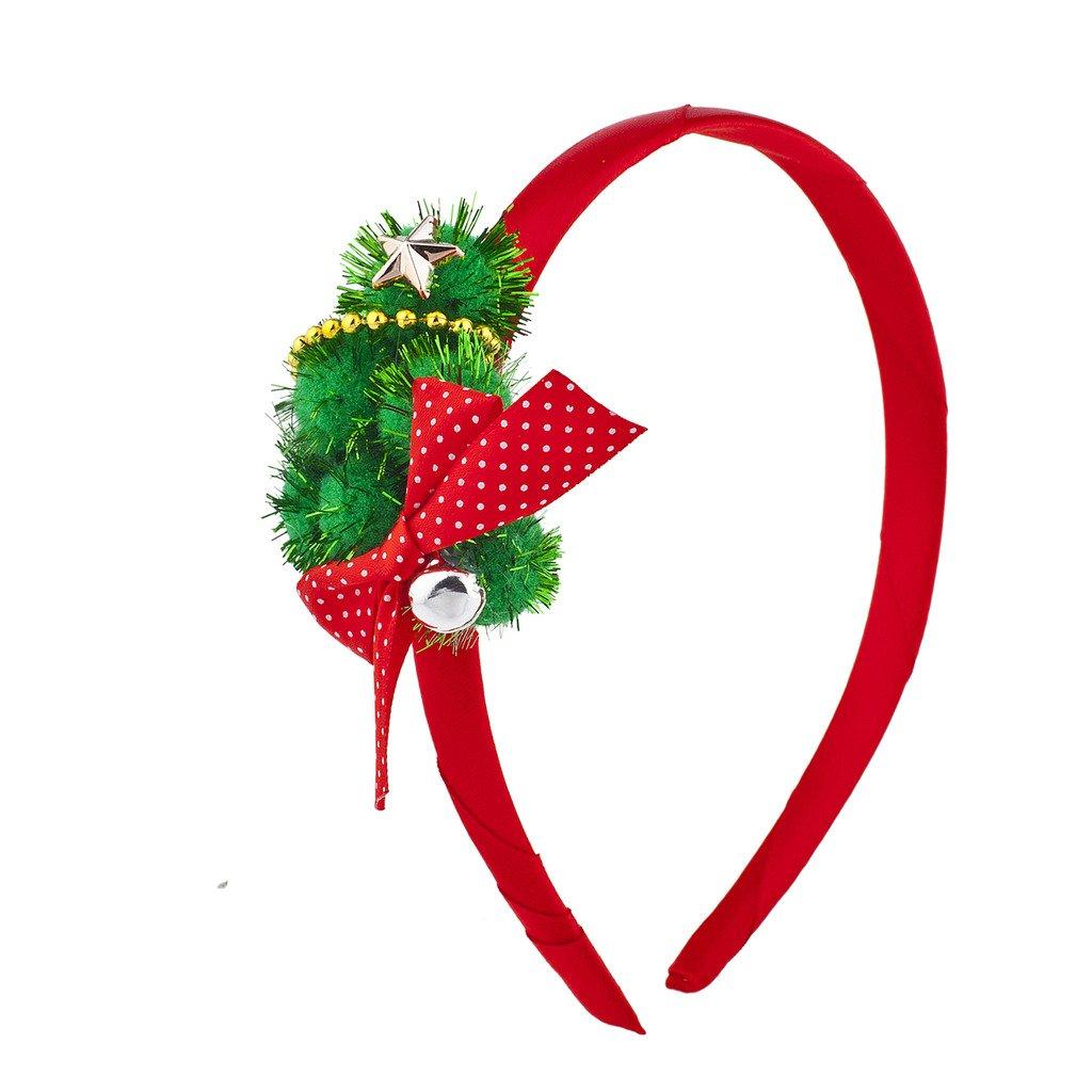 LUX Zubehör Rot Grün Festive Weihnachten Weihnachts Girlande Schleife Stern Haarband H57377-1-H853
