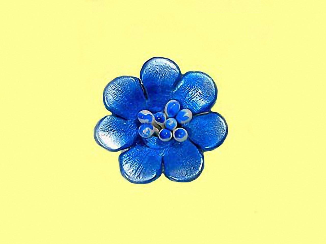 Magic and Arts Lederbl/üte Klemme blau metallic