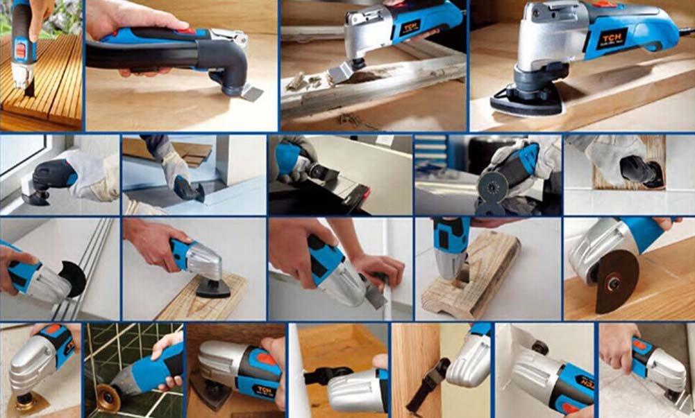 HAOLI 50 Pcs/Set Oscillating Power Tools Standard Saw Blades (Not Quick-Lock) For Fein Multimaster,Dremel,Makita and More (HL320Cx50)