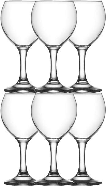 Set 6 Vasos Misket 260 Ml, Vaso de Vidrio Transparente ...