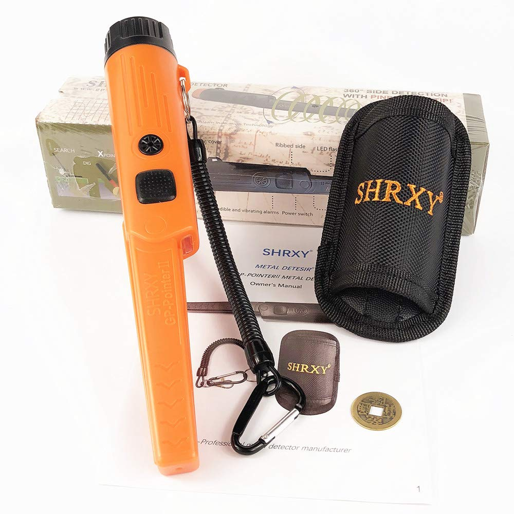 Neues Schwarz Metal Detectors Portable Gold Hunter Gold Finder Hand Held with LED light for Low Light Uses