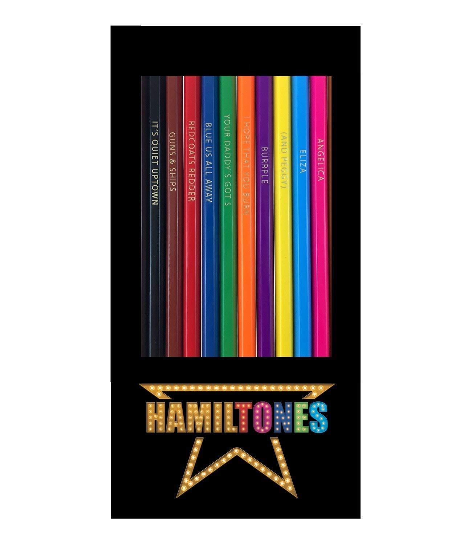 Amazon.com: Hamiltones Colored Pencils Set - 12 Hamilton Musical Parody  Pencils