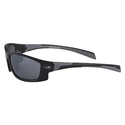 Infinite Eins - Gafas de Sol Deportivas Polarizadas y Ultraligeras Negras y Grises con Protección UV400