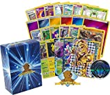 Pokemon 100 Card Lot With 1 GX - EX - Break Rare and Holo Rare! Featuring Random Foils - Rares - Promos - Energy and Pokemon Coin! Includes Golden Groundhog Box!