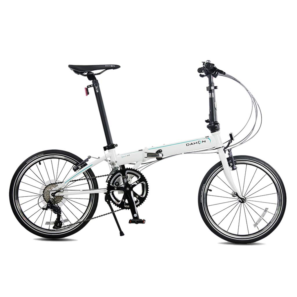 White 15032107cm Folding Bikes Bicycle Folding Bicycle Unisex 20 Inch Shift Disc Brakes Sports Portable Bicycle (color   Black, Size   150  32  107cm)