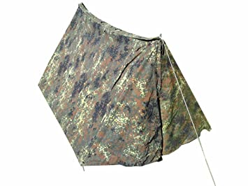 Original German Armed Forces Camouflage A-Frame Two Man Tent