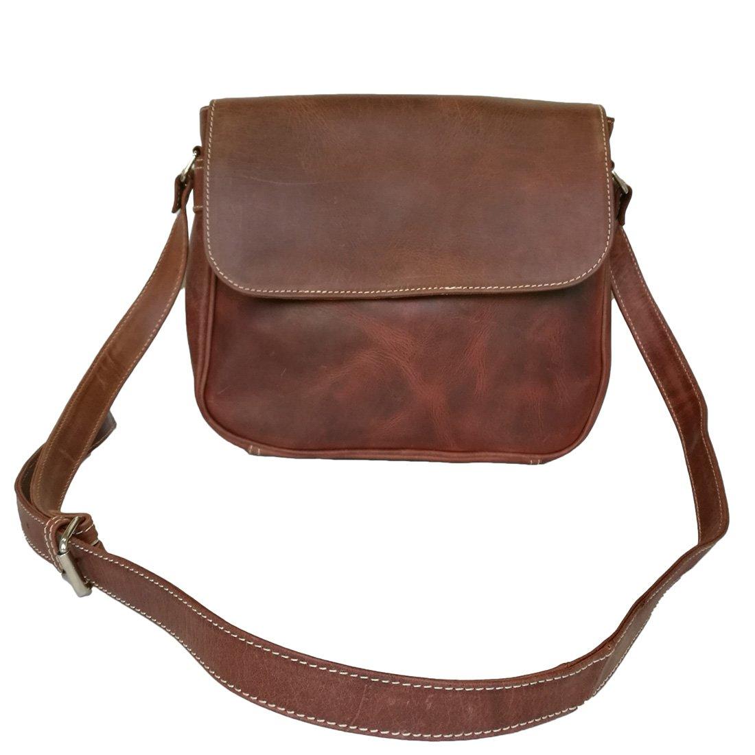 ab4cc125fd45 Ladies Buffalo Leather Purse Satchel Bag Women's Shoulder Cross Body ...