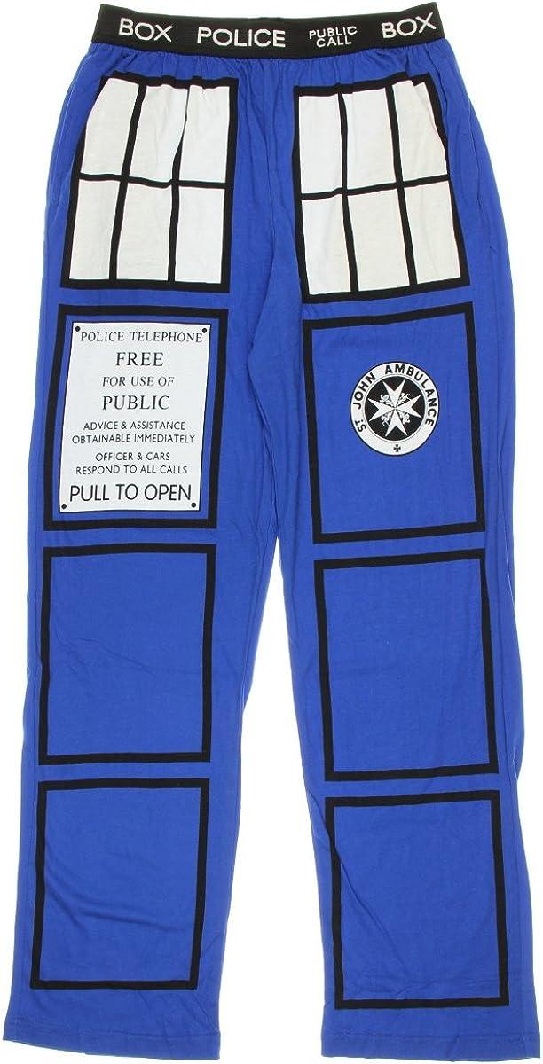 Doctor Who TARDIS Royal Blue Lounge Pants Adult Medium