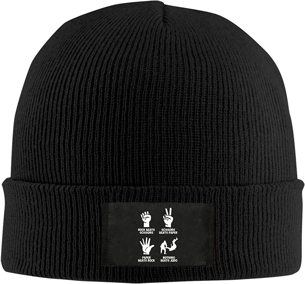 LRHUI Jiu-Jitsu Winter Knitted Hat Warm Wool Skull Beanie Cap