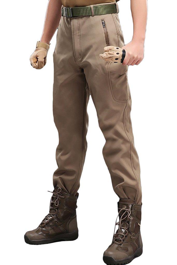 BELLOO Men Workwear Combat Trousers Fleece Cargo Pants
