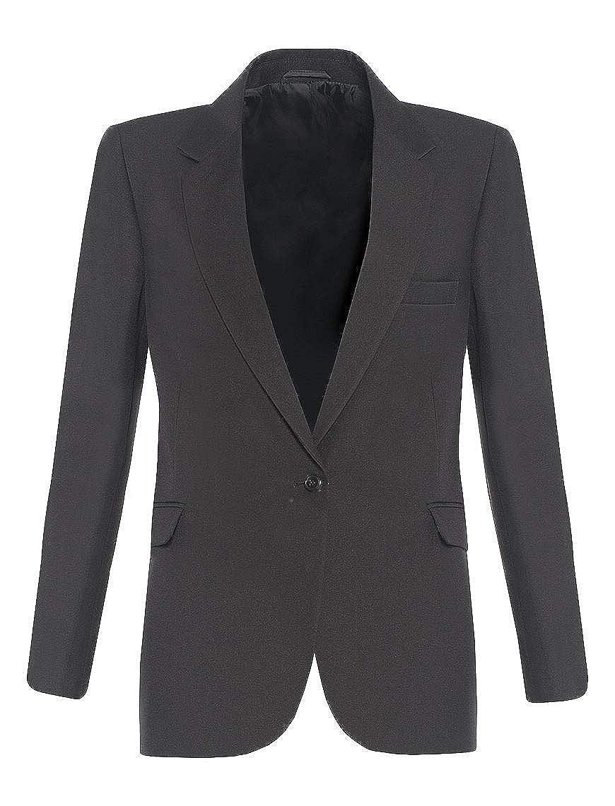 gris Acier 117 cm poitrine School Uniform 365 - Manteau - Fille