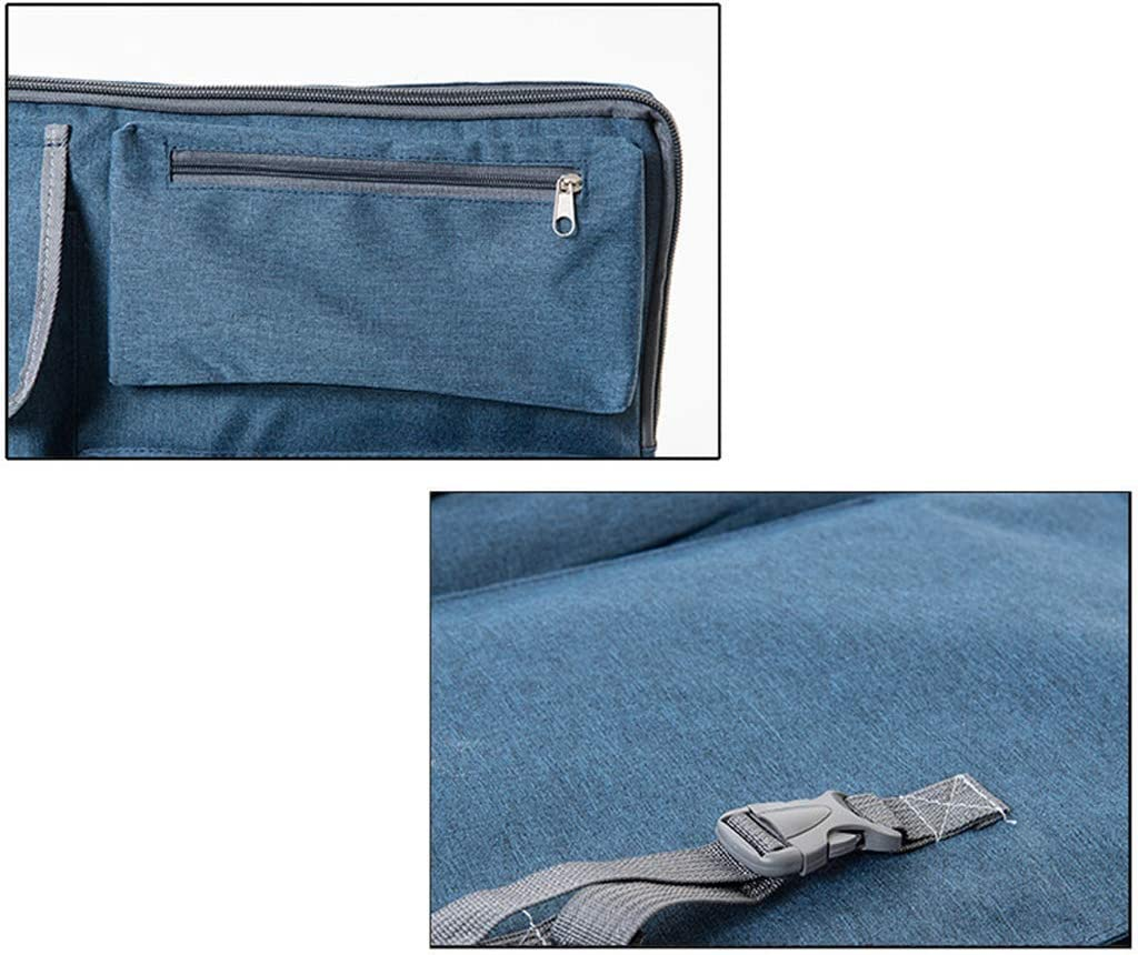 Art Carrying Case Portfolio//Art Portfolio Bag Art Portfolio Carry Case Bag Backpack//Student Artist Outdoor Art Supply Sketch Board Travel Sketchpad Drawing Board Bag//Blue