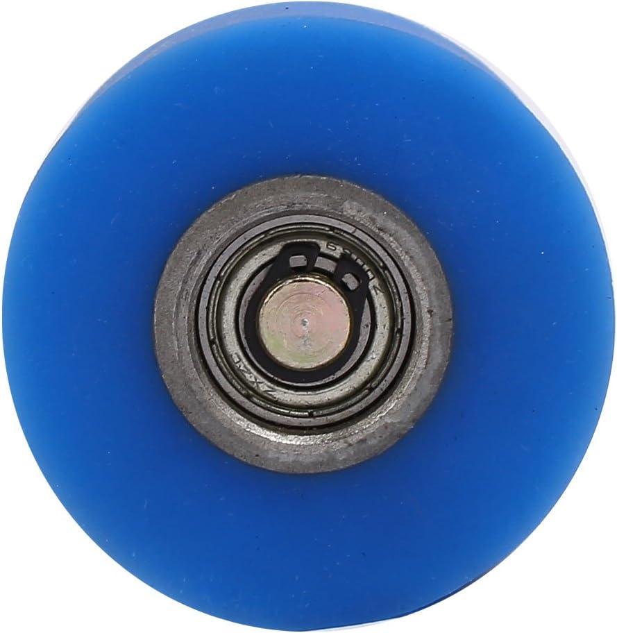 Sourcingmap Arbre 10mm diam/ètre 60mm x 40mm Rev/êtement Machine Roue en Caoutchouc Silicone Bleu Rouleau