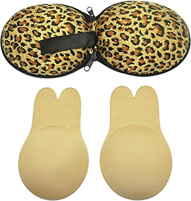 Reusable Long Ears Invisible Rabbit-shaped Lift Up Bra Tape for Women ED
