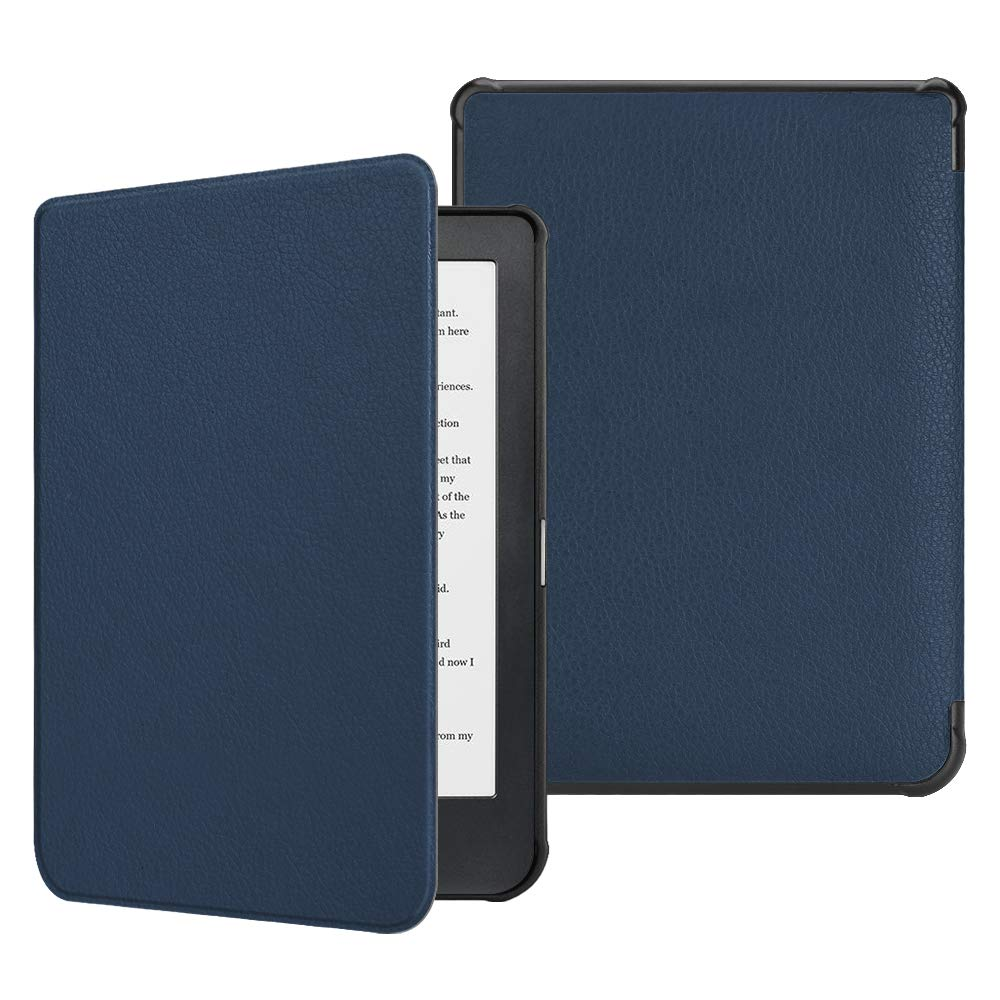 Black Ultra Slim Smart Protective Folio Cover with Auto Wake Sleep Function for Kobo Clara HD 6.0 Inch Ereader 2018 Release Kobo Clara HD Case