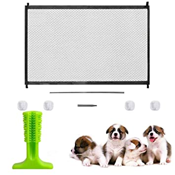 Pets Safety Retractable Dog Gates Baby Fence Portable Folding Gate Isolated Net