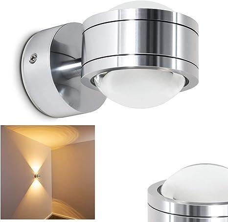 Luxus LED Wand Strahler weiß Esszimmer Küchen Leuchte Metall Lampe 1-flammig G9