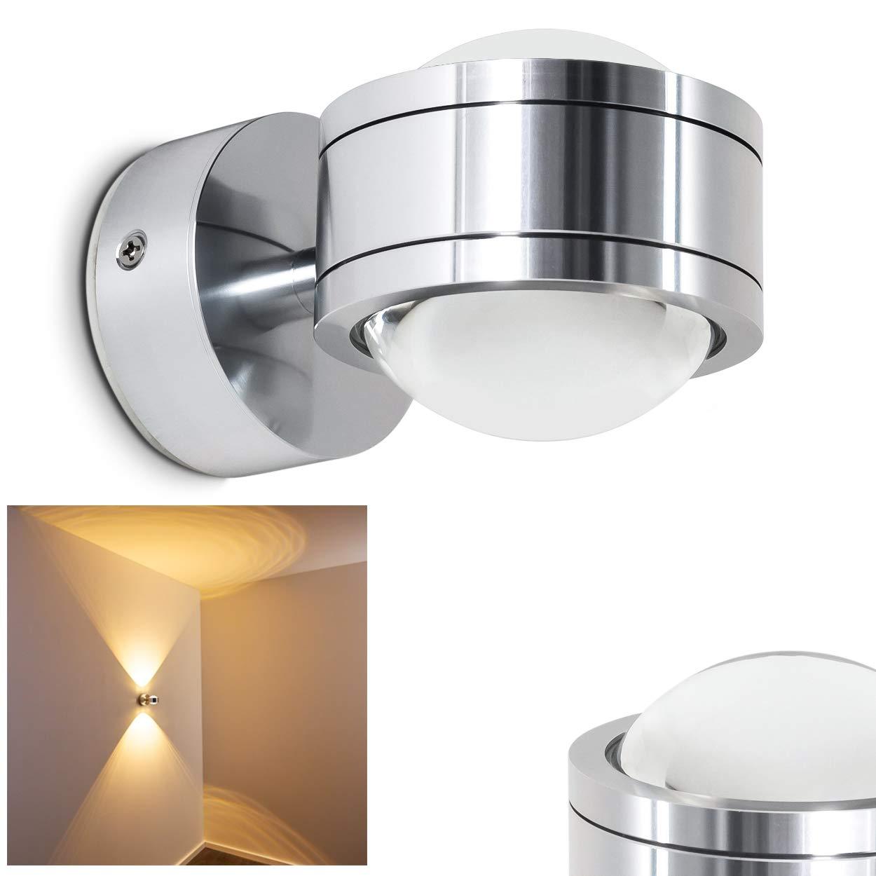 LED Wandleuchte Indore mit tollen Lichteffekten - Wandspot für das Wohnzimmer - LED Badezimmerlampe IP44 - Wandstrahler aus Metall mit 600 Lumen und 3000 Kelvin