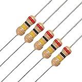 Uxcell a11102000ux0119 100 x 1/4W 250V 200K Ohm Through Hole Carbon Film Resistors