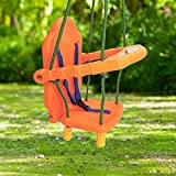 Costzon High Back Swing Seat, Kids Toddler Swing Chair for Outdoor Backyard Playground w/Rope