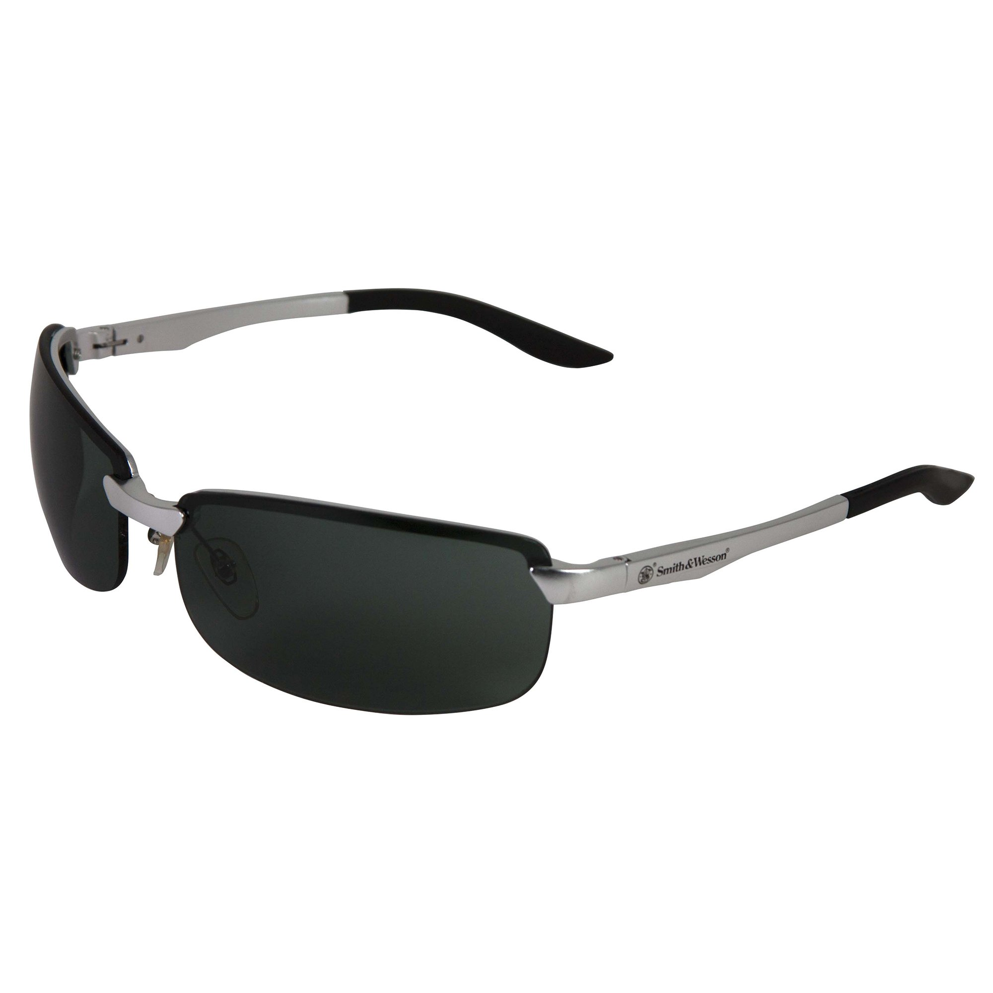 Smith & Wesson Airweight Safety Glasses (38481), Anti-Fog, Smoke Lens, Aluminum Frame