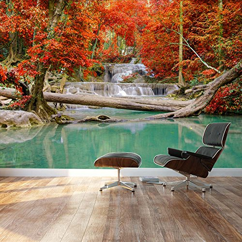 Stream and Waterfall in exotic location Landscape Wall Mural