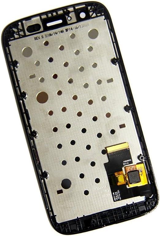 Motorola Moto G XT1032 LCD Pantalla T/áctil Digitalizador Vidrio Completa con Marco Reemplazo y Herramientas Negro